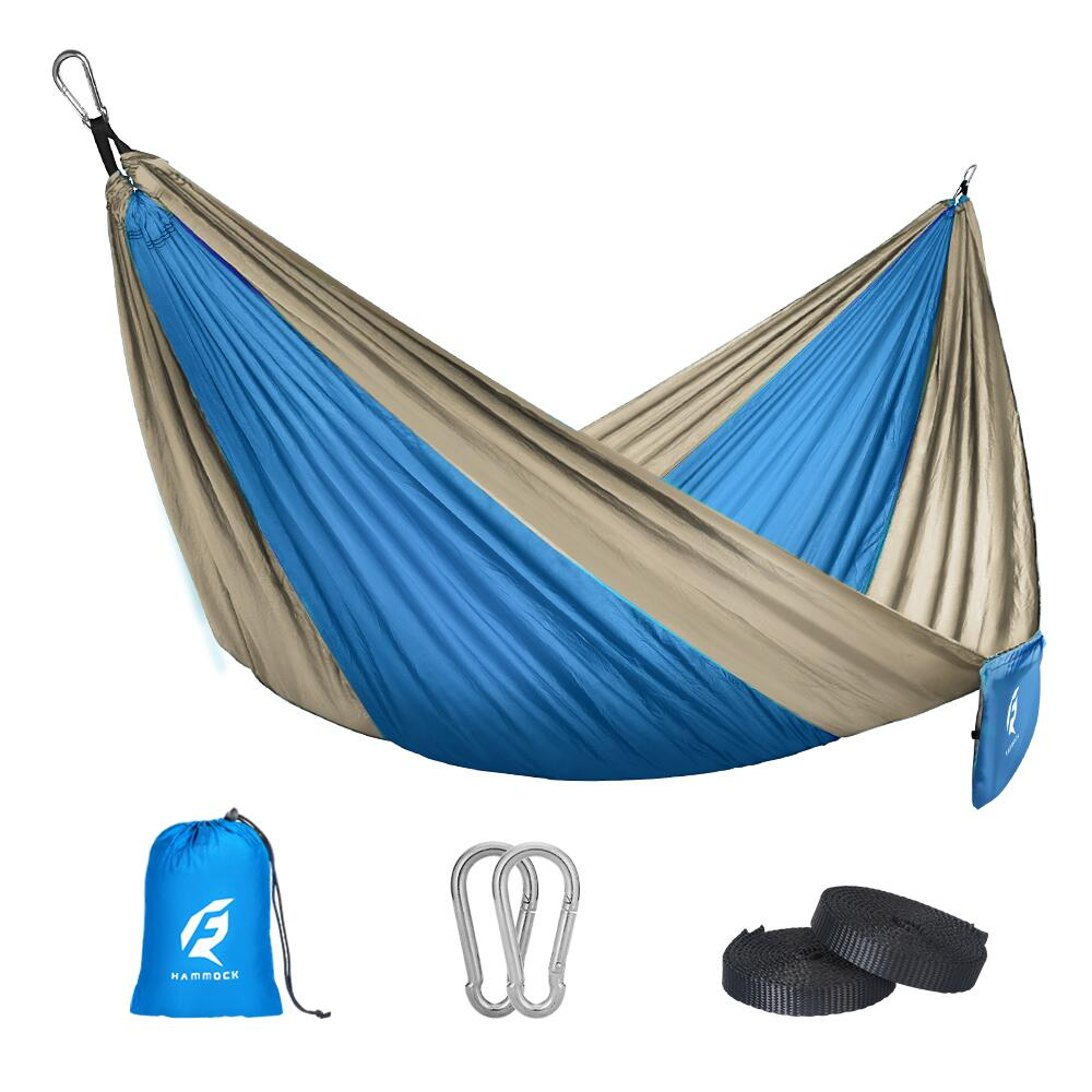 Backpacking QF Single Camping Hammock with 10FT Tree Straps Lightweight Parachute Portable Hammocks for Hiking Backyard Beach Outdoor Indoor Travel