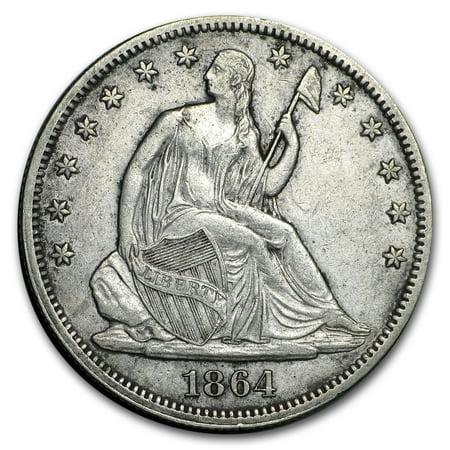 1864 Liberty Seated Half Dollar XF