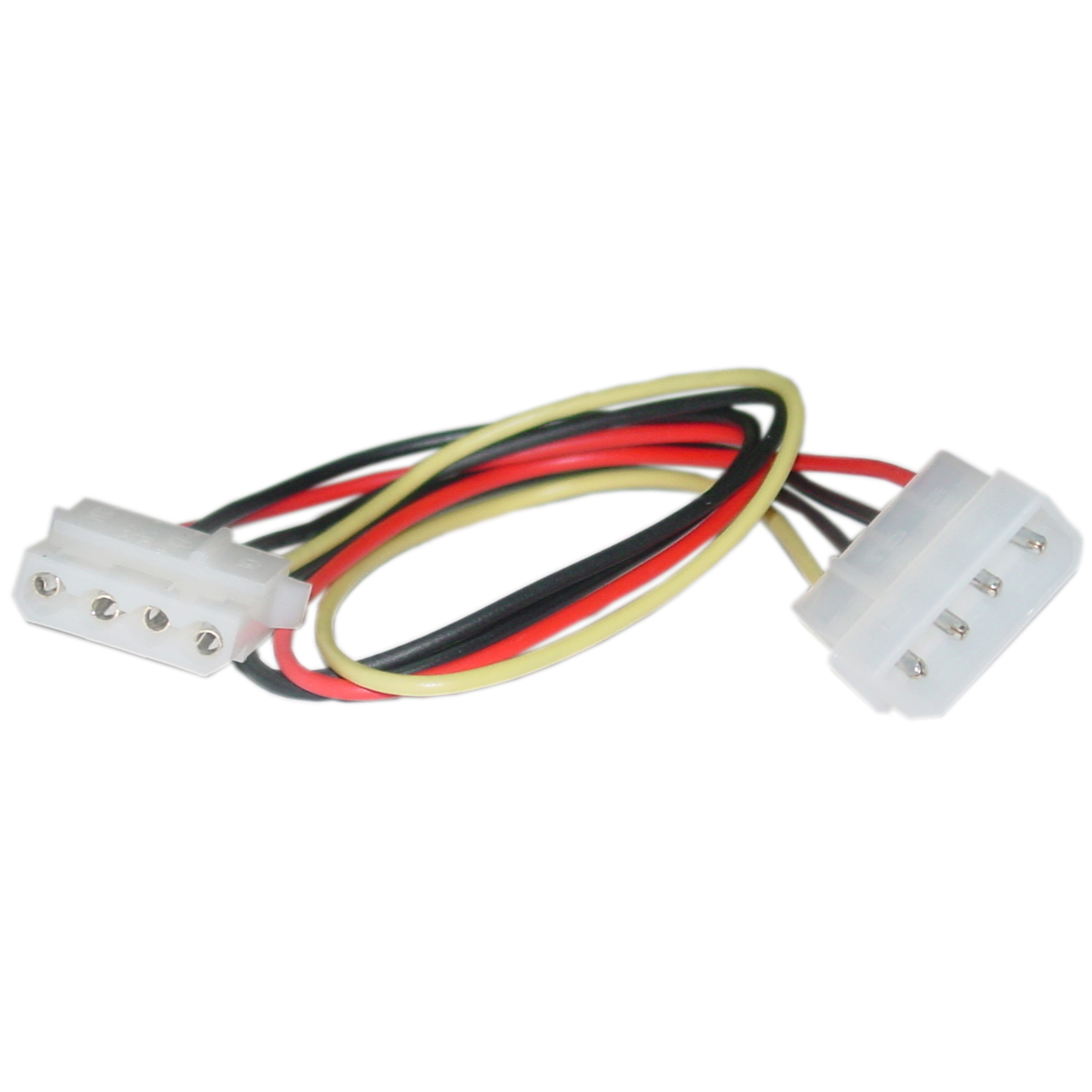 ACL 8 Inch 4 Pin Molex Male to Dual Female 5.25 inch 5.25 inch 5 Pack Power Cable