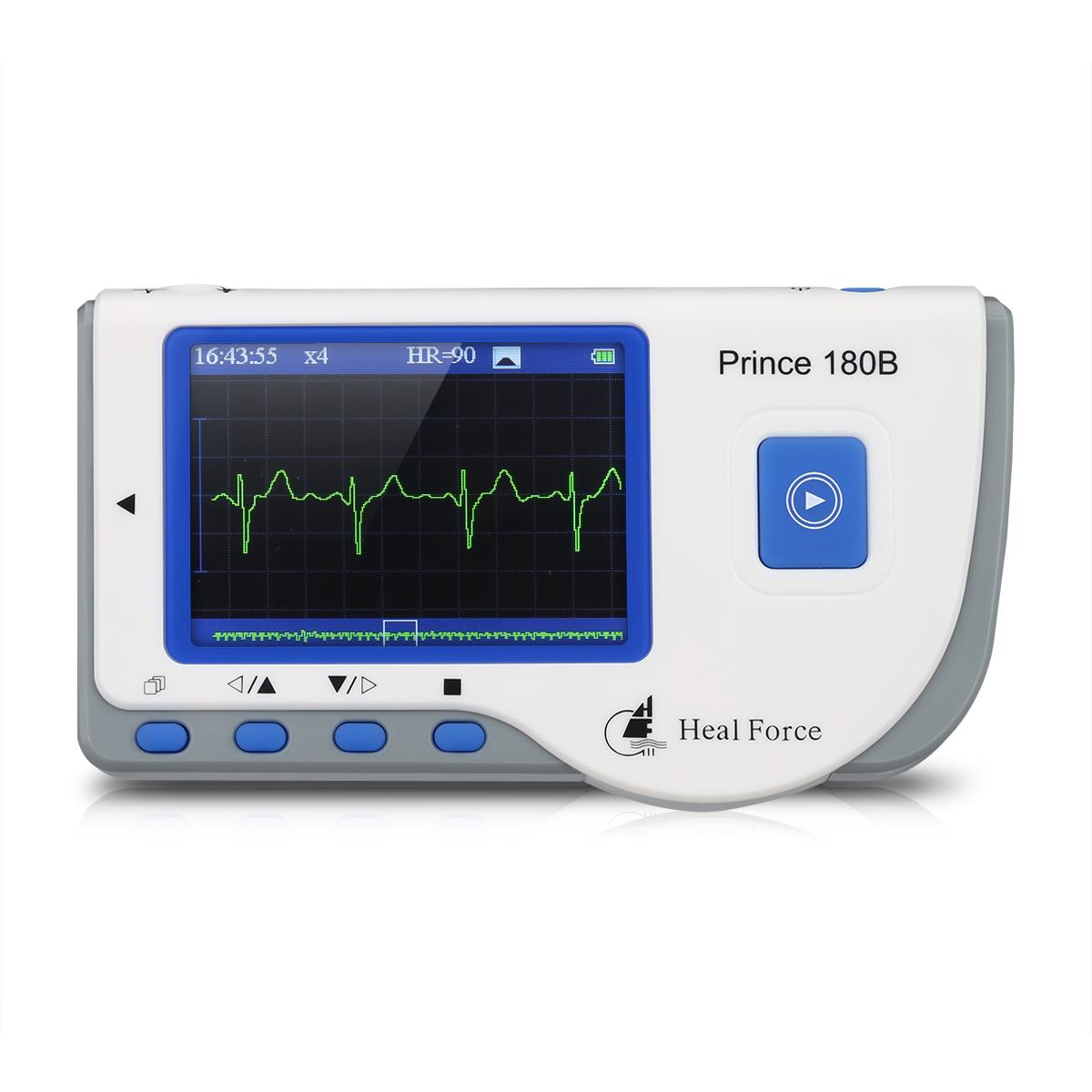 Portable LCD Heal Force 180B Portable ECG Monitor , ECG Waveform Analysis, FDA