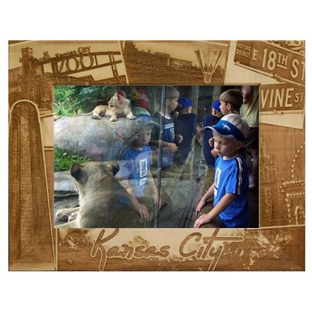 Kansas City Missouri Collage Laser Engraved Wood Picture
