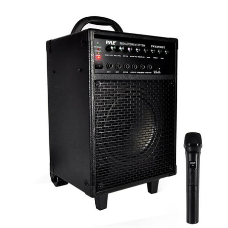 Wireless Battery Powered Pa System - Portable BT PA Speaker System, Built-in Battery, Microphone, 30-Pin IOS Dock, 600 Watt