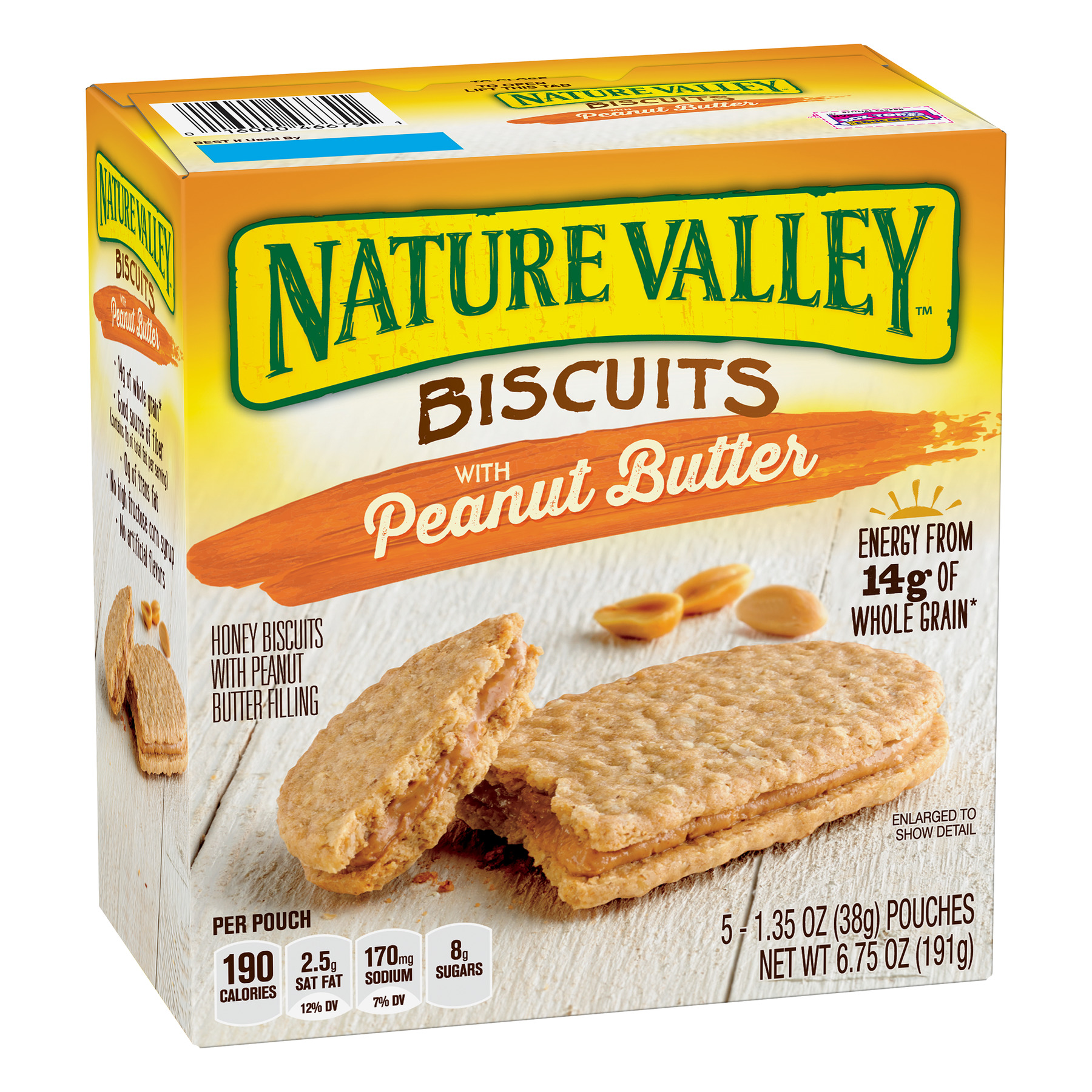 Nature Valley Peanut Butter Breakfast Biscuits with Nut Filling 5 Bars
