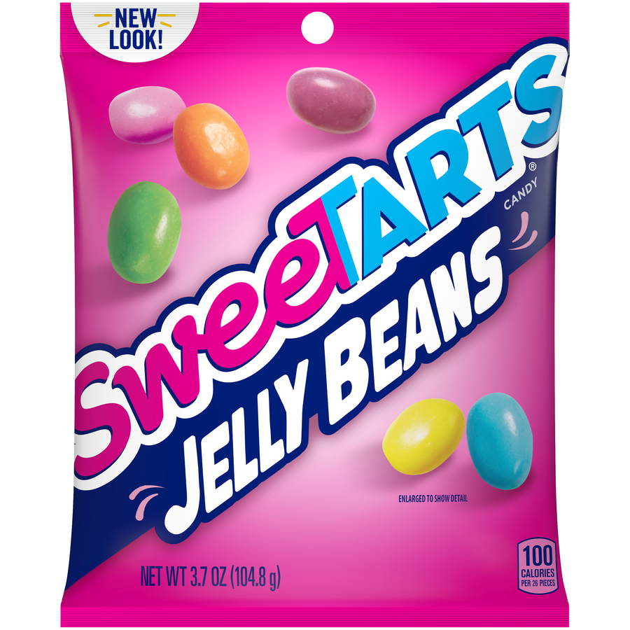 Sweetarts Jelly Beans Candy Bag, 3.7oz (Box of 12)