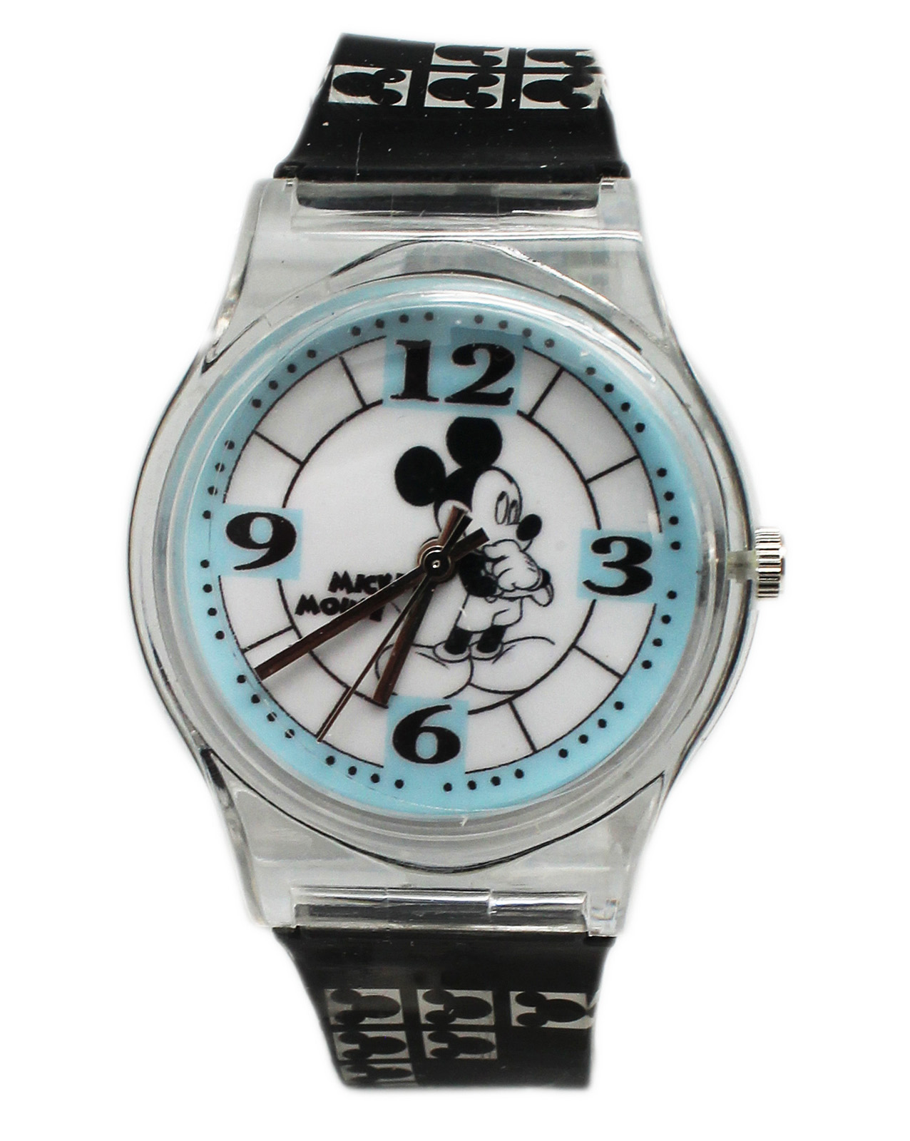 Disney's Mickey Mouse Black and White Gel Band Watch (30mm)