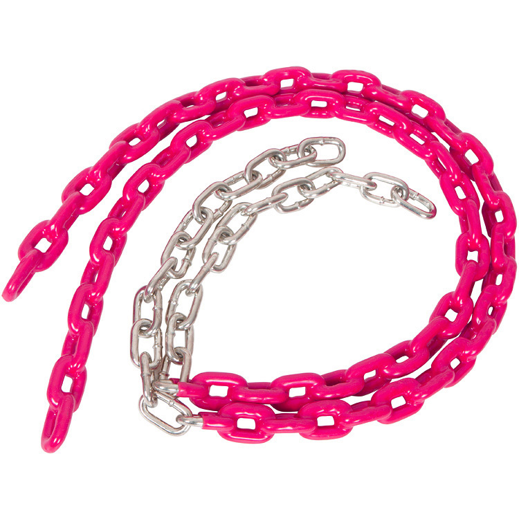 Swing Set Stuff Inc. 3.5 Ft. Coated Trapeze Chain Pair (Pink)