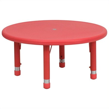 """Bowery Hill 45"""" Round Activity Table in Red - image 3 of 3"""