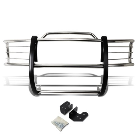 For 1998 to 2004 Chevy S10 Blazer / GMC S15 Sonoma Front Bumper Protector Brush Grille Guard (Chrome) 99 00 01 02 03