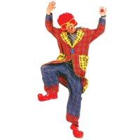 Plaid pickles adult clown costume