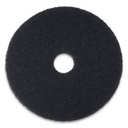 "Stripping Floor Pads, 16"" Diameter, Black, 5/Carton"