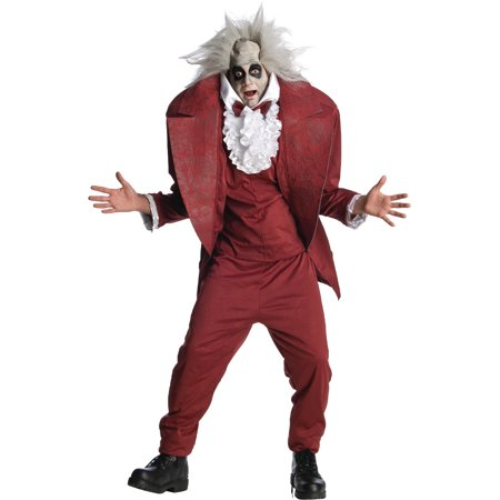 Adult Tim Burton's Shrunken Head Bettlejuice Costume - Beetlejuice Head Shrunken