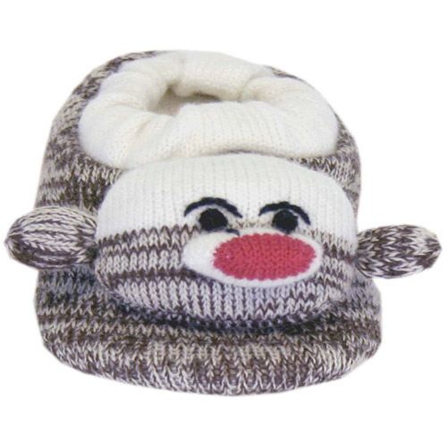 MUK LUKS Sock Monkey Slipper - Brown Tweed