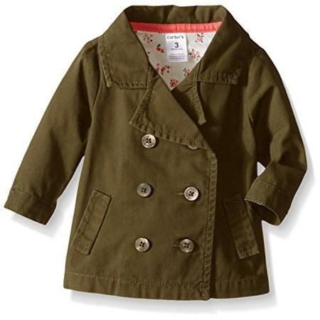 Baby Girls' Olive Pea Coat](Peacoat For Girls)