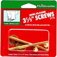 5PK 2 Screw Bowl To Floor Kit Secures Toilet Bowl Directly To Floor
