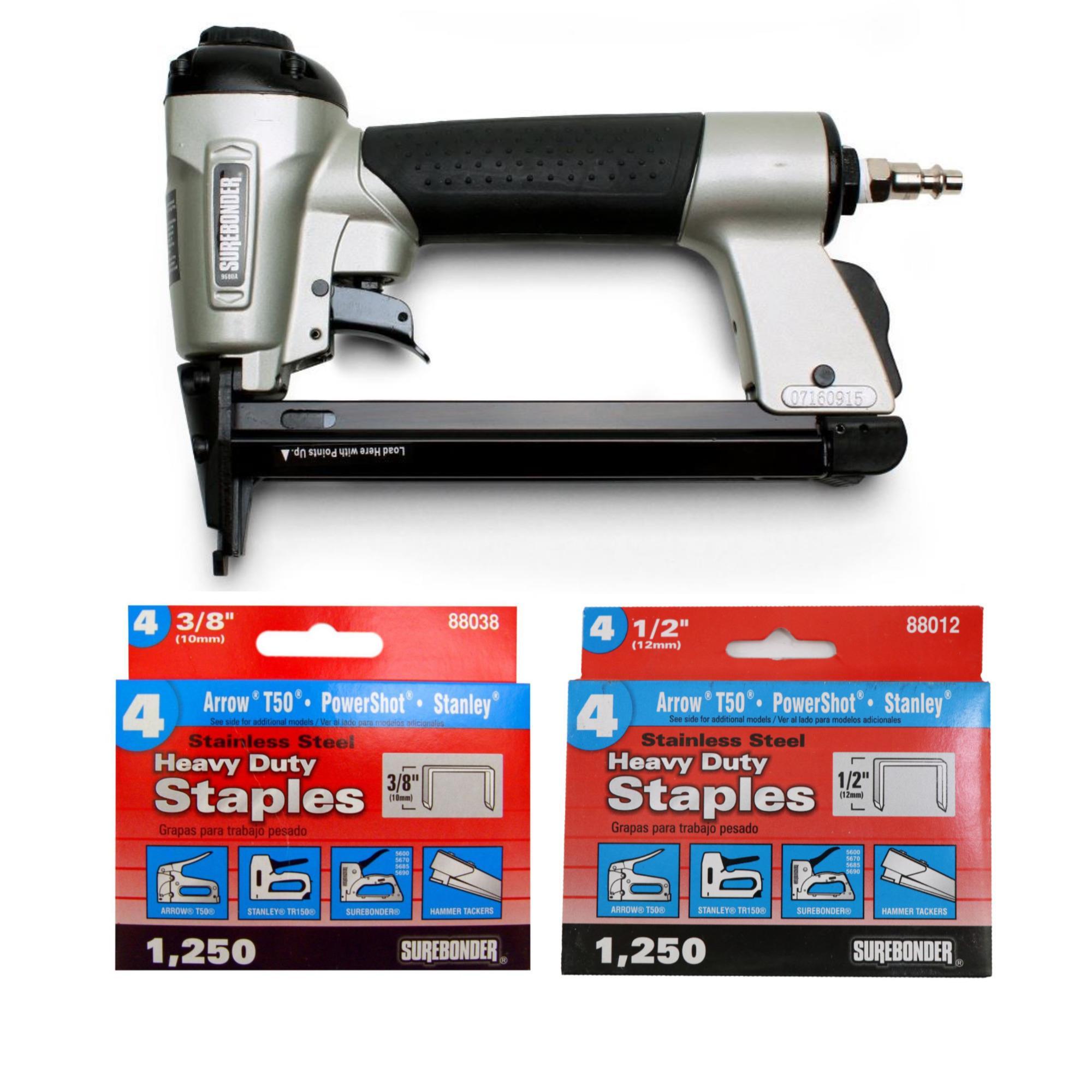"Arrow T50 Stanley Powershot Staple Guns Steel Staples Sizes 1//4 /& 5//16/"" 9600"