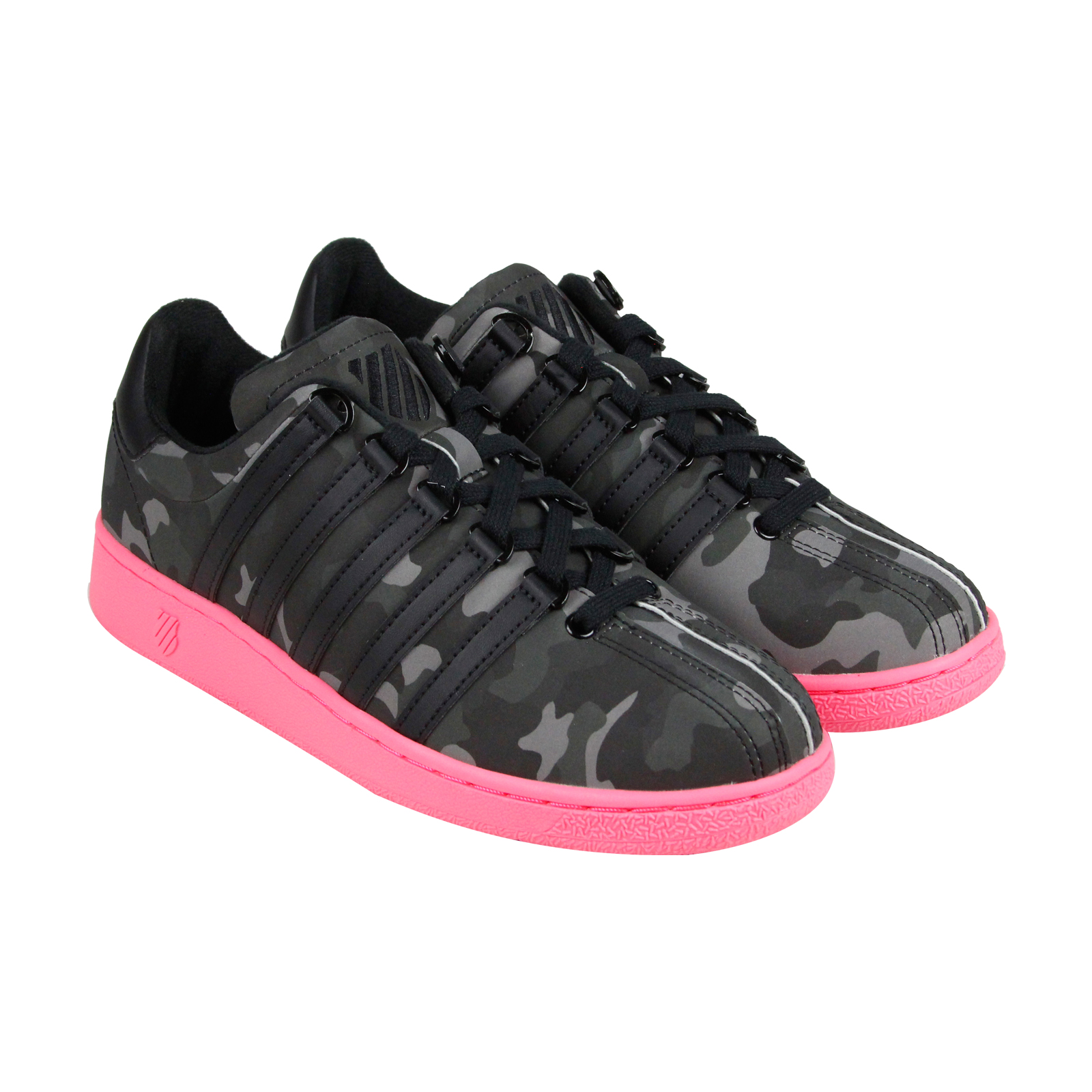 K-Swiss Classic VN Camo Glam Womens Black Synthetic Lace Up Sneakers Shoes by