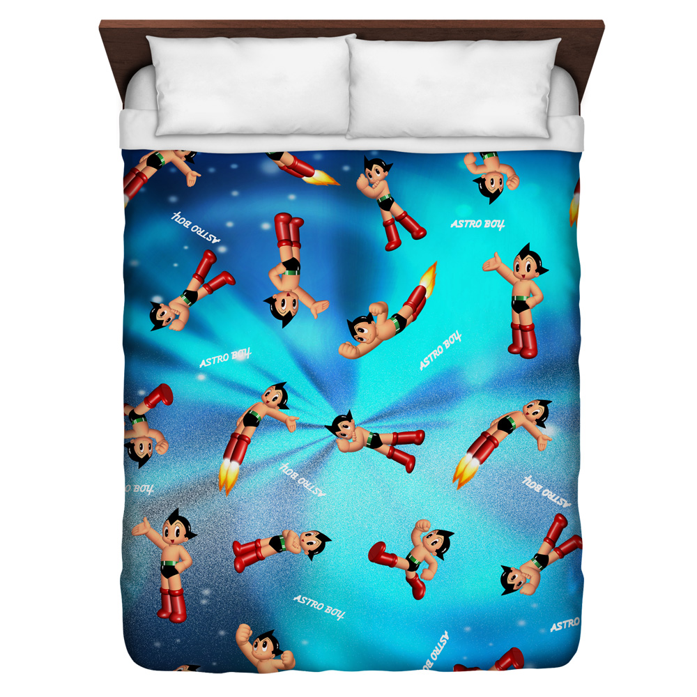 Astro Boy Pattern Queen Duvet Cover White 88X88