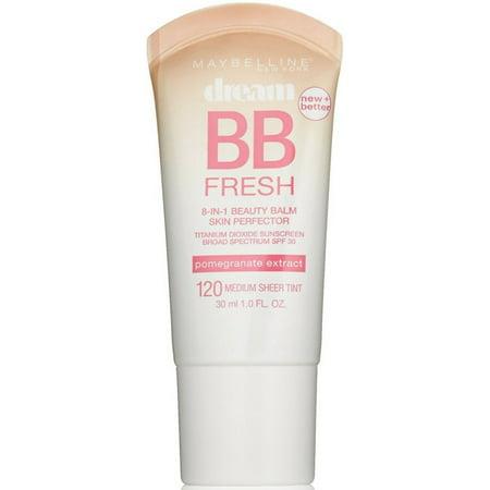 - Maybelline Dream Fresh BB 8-in-1 Beauty Balm Skin Perfector SPF 30, Medium 1 oz (Pack of 4)