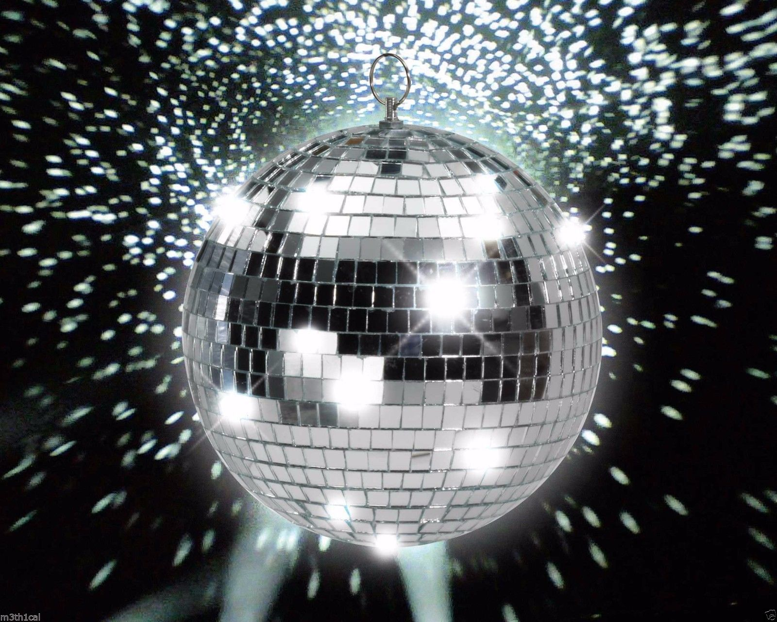 "8"" Glass Mirror Ball Party Disco DJ Prop Lighting Special Effects 70's Party by Forum Novelties"