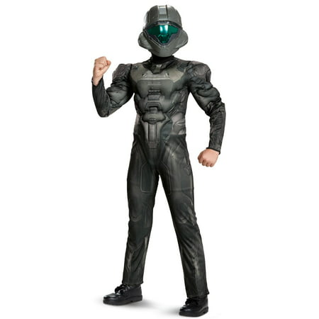 Halo: Spartan Buck Classic Muscle Child Costume - Boy With Halo