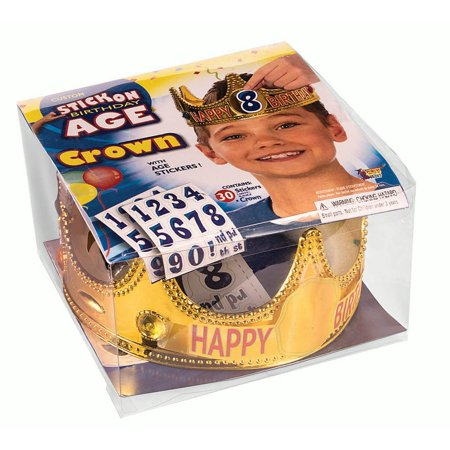 Festive Happy Birthday Crown Child Age Display King Queen Fun Funny - King Crown For Kids
