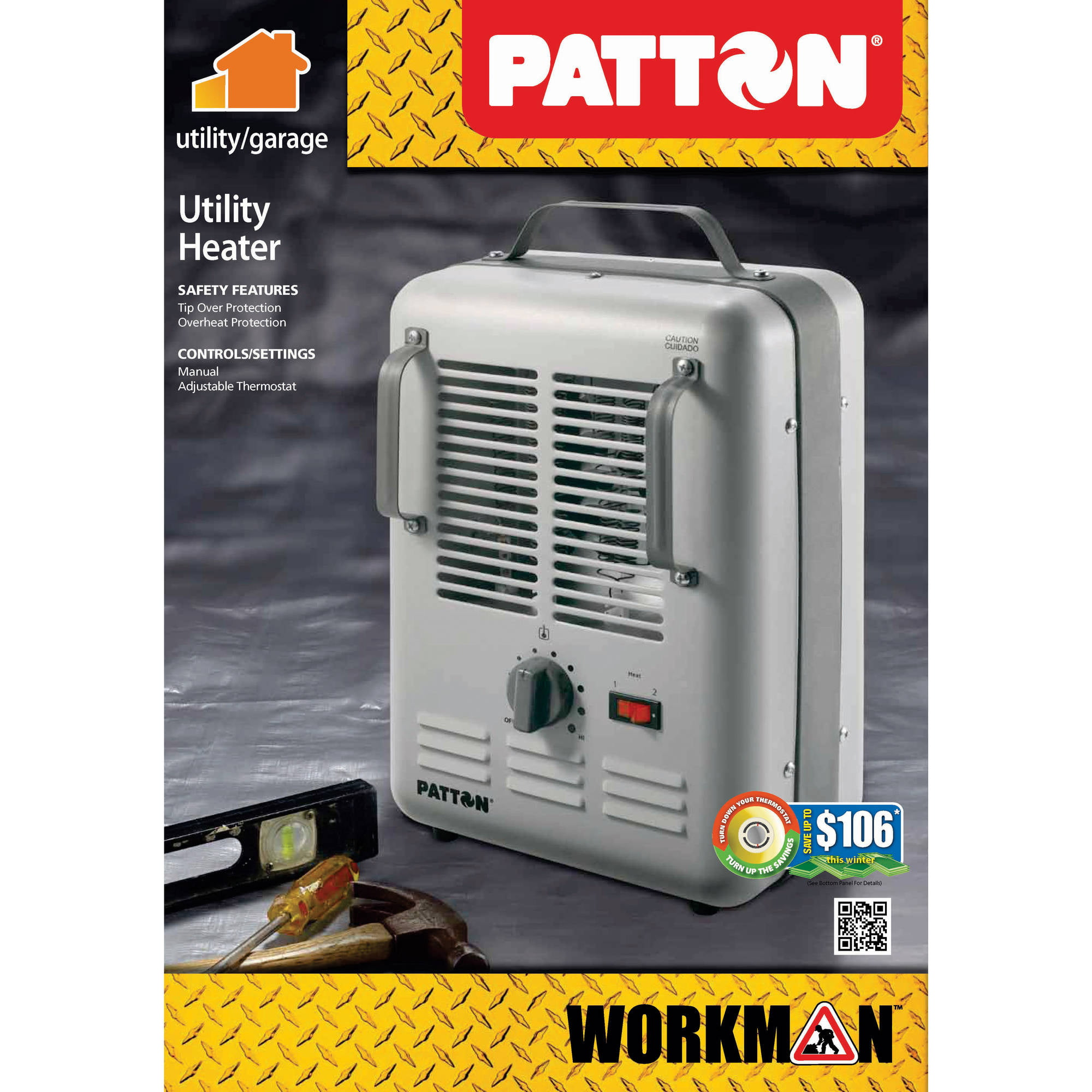 Patton Milkhouse Utility Electric Heater Puh680 Wm1