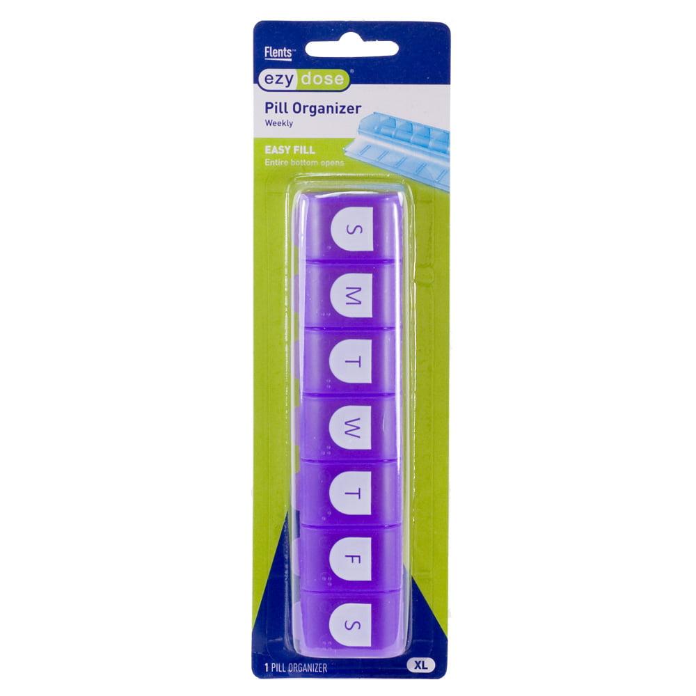 Ezy Dose 7 Day Easy Fill Pill Organizer - XL (Purple)