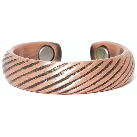 Copper Braids - Magnetic Therapy Ring (CR-09)--