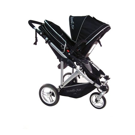 StrollAir My Double System Baby Stroller City Travel Seat Lightweight Black