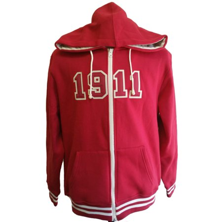 Kappa Alpha Psi Halloween Party (Buffalo Dallas Kappa Alpha Psi 1911 Applique Zip-Up Mens Hoodie [Crimson Red -)
