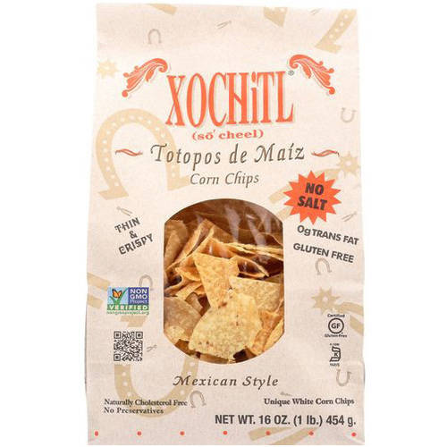 Xochitl Totopos de Maiz Stone Ground Chips, 16 oz, (Pack of 9)