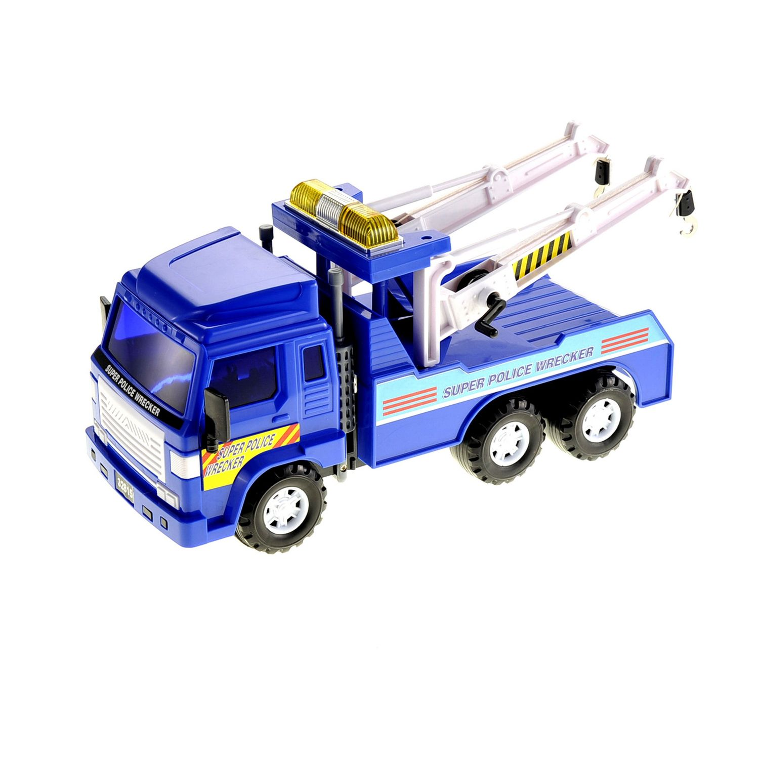 Big Heavy Duty Wrecker Tow Truck Police Toy for Kids with Fr by
