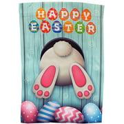 Happy Easter Bunny House Flag  28 x 40, Double Sided, Garden Decor