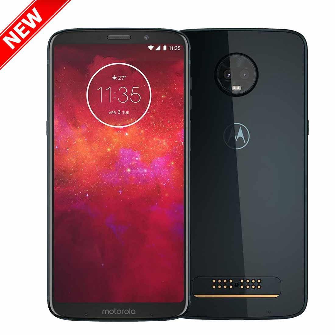 "New Motorola Moto Z3 Play 64GB XT1929-6 Dual SIM GSM Factory Unlocked 4G LTE 6.01"" Super AMOLED Display 4GB RAM... by MOTOROLA"