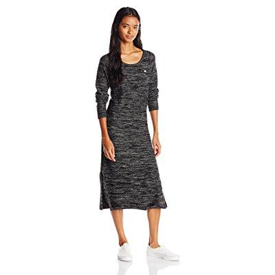 OBEY women's emery sweater dress, black/multi, large