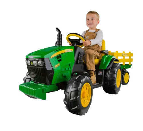 Peg Perego John Deere Ground Force Tractor with Trailer by