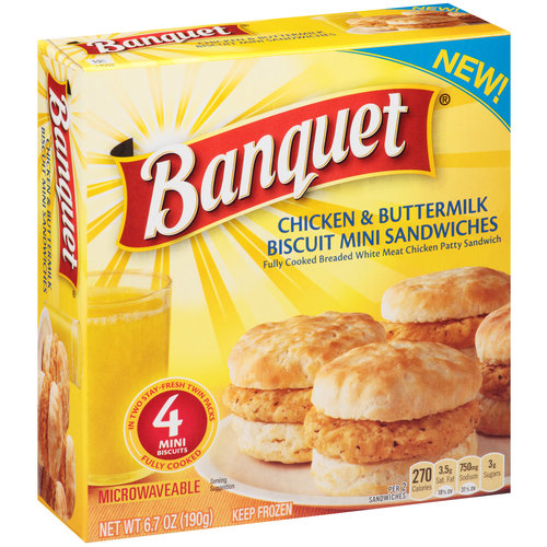 Banquet Chicken & Buttermilk Biscuit Mini Sandwiches, 2 ct, 6.7 oz