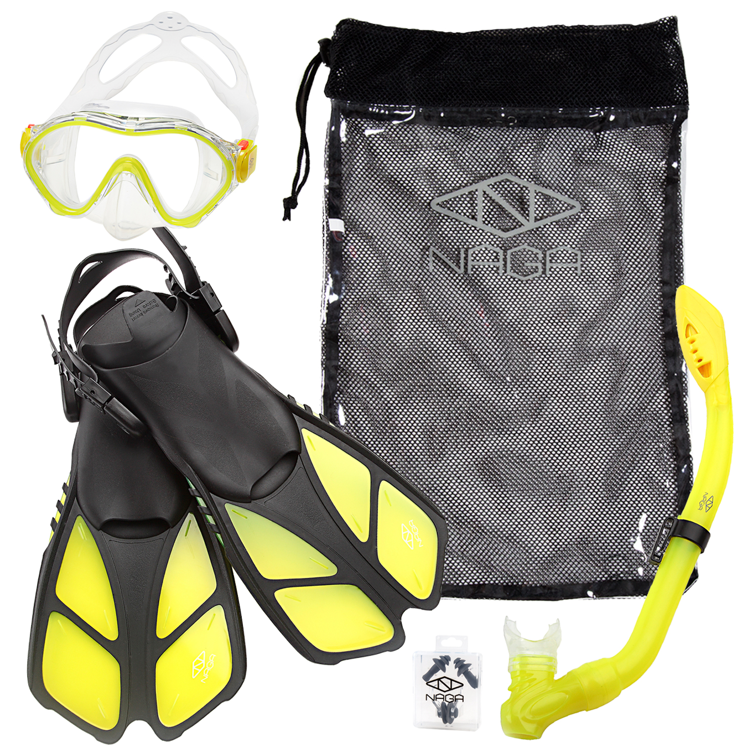 NAGA Sports Kids Snorkel Set Blue by NAGA