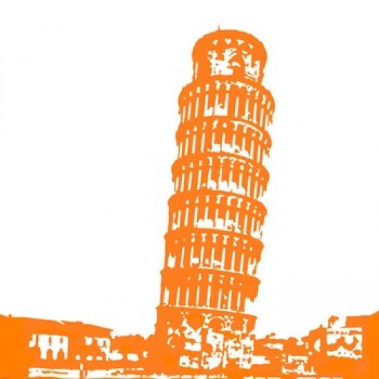 Pisa in Orange Poster Print by Veruca Salt (20 x 20)