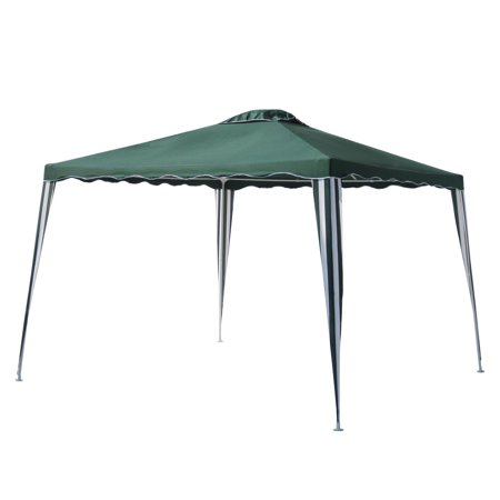 (ALEKO 10' x 10' Iron Foldable Gazebo Canopy for Outdoor Events, Green)