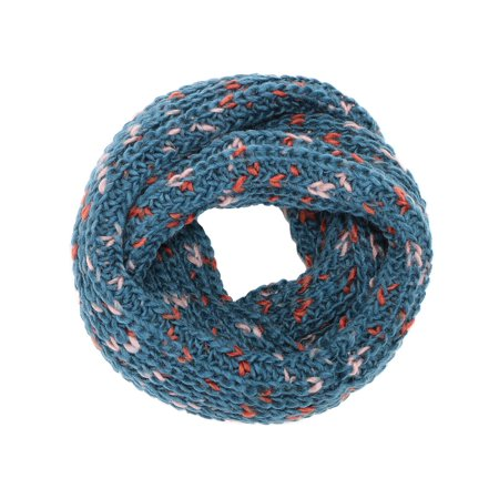 6e7d745c8 Simplicity Striped Infinity Scarf in Knit Pattern Crochet Circle scarves,  Blue - Walmart.com