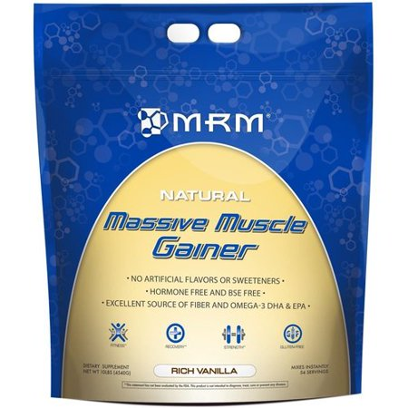 MRM 73003 Massive Natural Muscle Gainer 10lb - Vanille