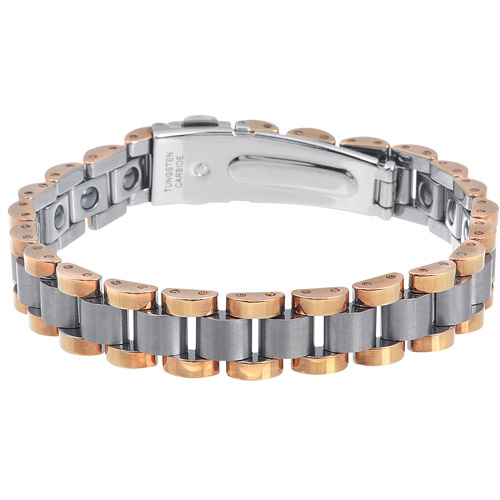 Daxx Men's Tungsten Magnetic Ion Link Bracelet