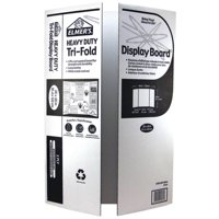 (2 Pack) Elmer's Heavy Duty Tri-Fold Display Board, White, 36x48 Inch
