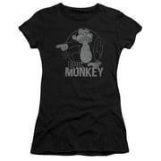 Family Guy - Evil Monkey - Juniors Teen Girls Cap Sleeve Shirt - Medium