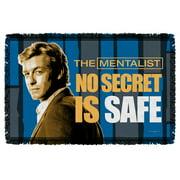 Mentalist No Secrets Woven Throw White 48X80