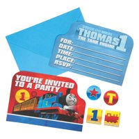 Thomas The Train Invite for Birthday - Party Supplies - Licensed Tableware - Licensed Invitations - Birthday - 8 Pieces