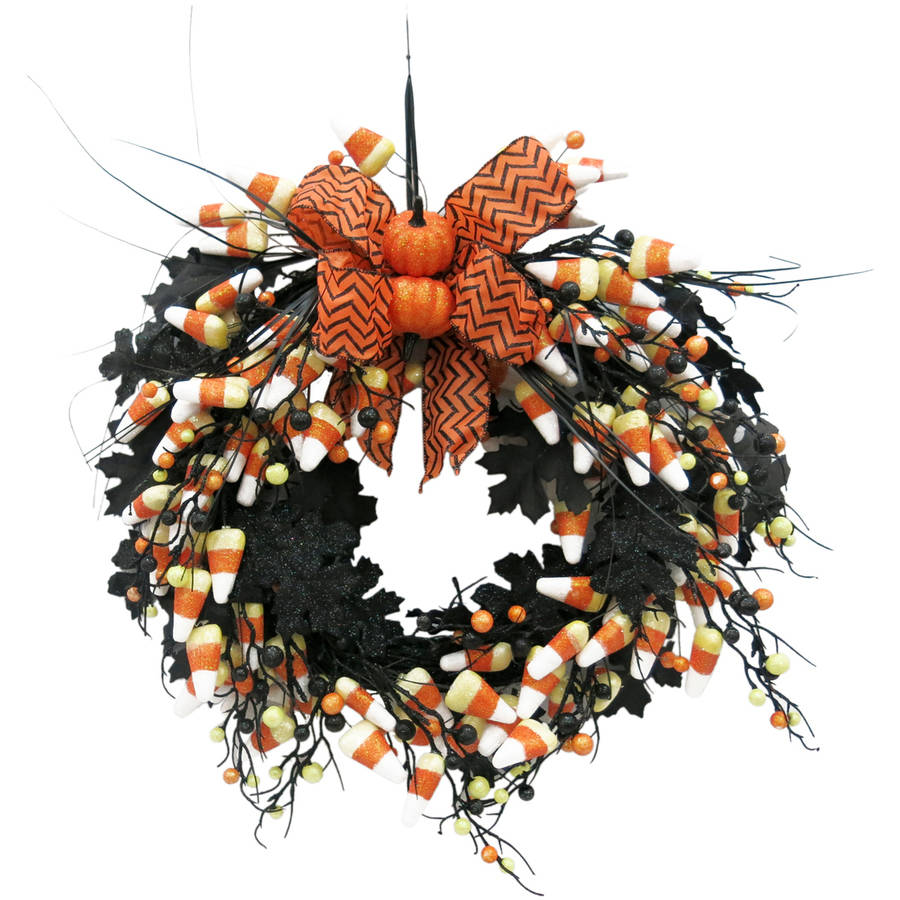 Walmart Halloween Candy Corn Wreath Halloween Decoration
