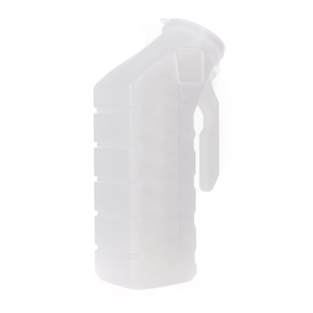 Male Urinal McKesson 32 oz. / 1000 mL With Cover Single Patient Use