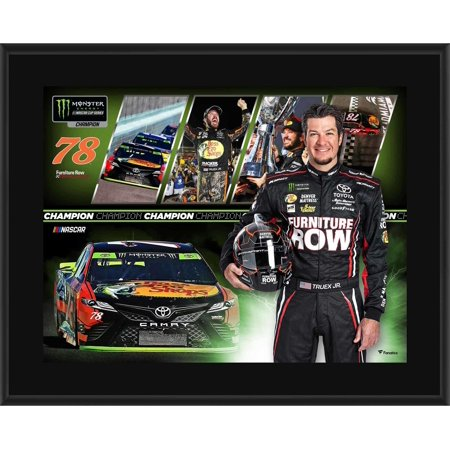 "Martin Truex Jr. Furniture Row Racing 10.5"" x 13"" 2017 Monster Energy NASCAR Cup Series Champion Sublimated Plaque"